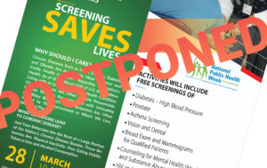 Tree of Life Healthcare health fair postponed due to COVID-19
